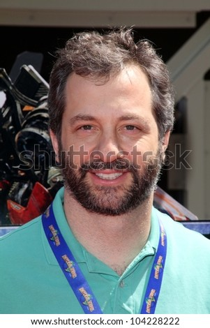 """Judd Apatow at the World Premiere Of Universal Studios Hollywood's """"Transformers: The Ride-3D,"""" Universal Studios Hollywood, Universal City, CA 05-24-12 - stock photo"""