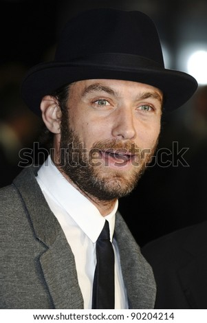 Jude Law arriving for the premiere of '360', the opening film of the London Film Festival 2011, at the Odeon Leicester Square, London. 13/10/2011 Picture by: Steve Vas / Featureflash