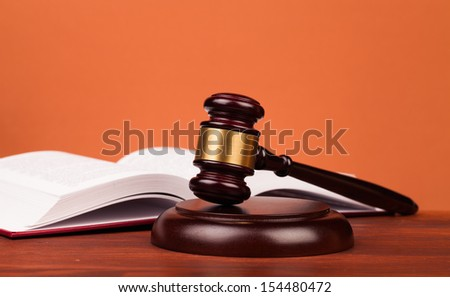 judge gavel and open book - stock photo