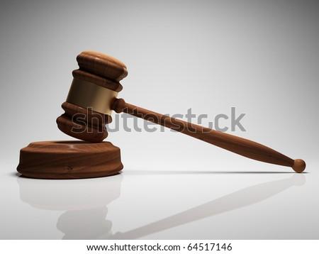Judge gavel in focus - stock photo