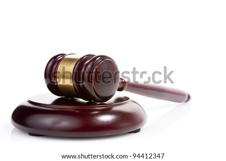 judge gavel isolated on white