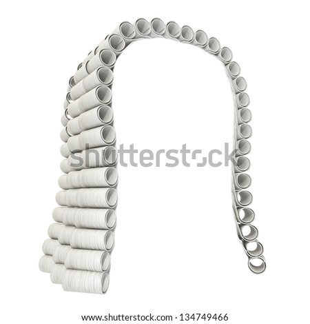 Judge wig on a white background - stock photo