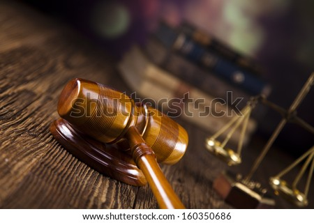 Judges gavel and Scales