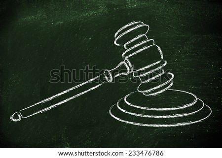 judges gavel design, concept of respecting the law - stock photo