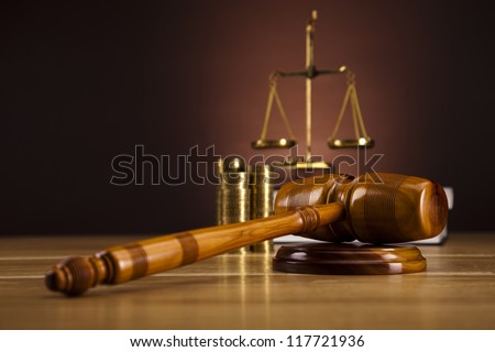 Judges wooden gavel - stock photo