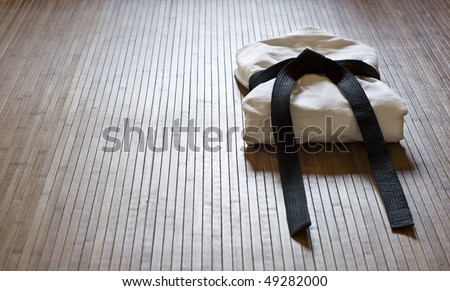 judo dress with copy space