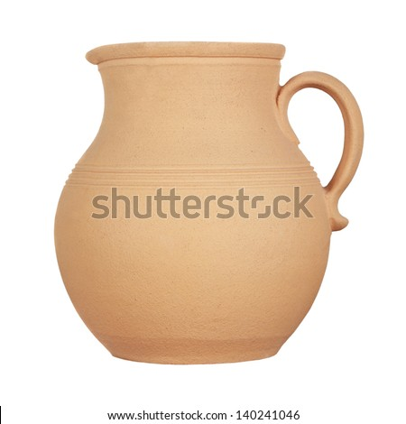 Jug isolated on a white background - stock photo