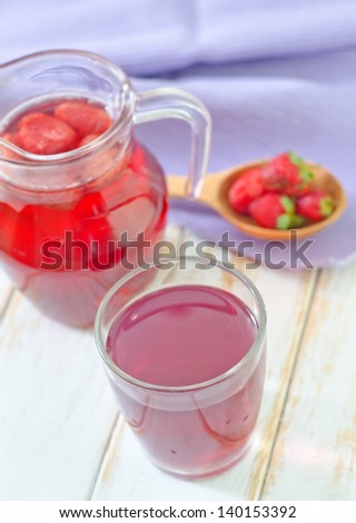 juice and strawberry