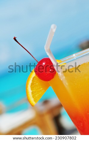 juice cocktail in the Maldives