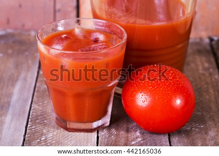 juice from fresh tomatoes