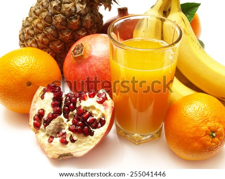 Juice fruit        - stock photo