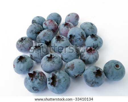 Juicy and fragrant berries of a garden blueberry - stock photo