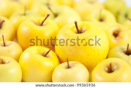 juicy apples background - stock photo