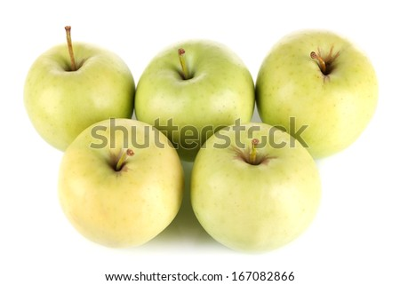 Juicy apples isolated on white