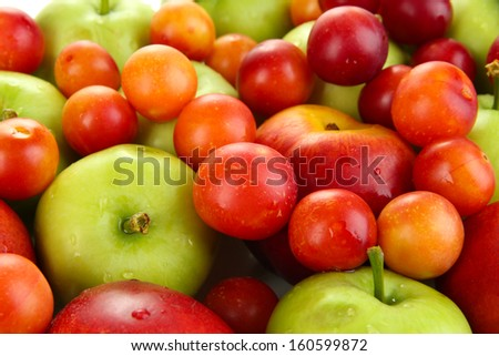 Juicy fruits background
