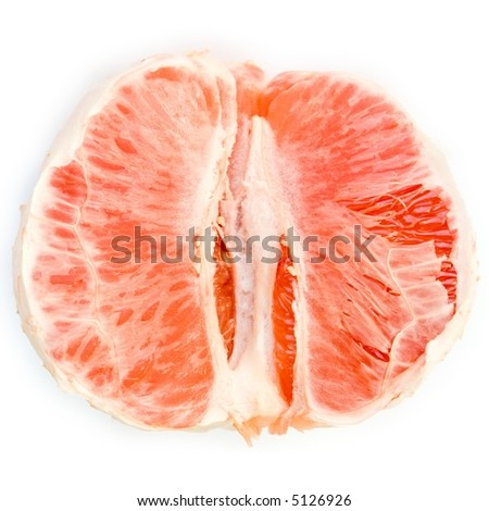 juicy grapefruit on a white background