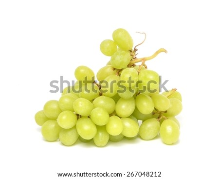 juicy green grapesisolated on a white background