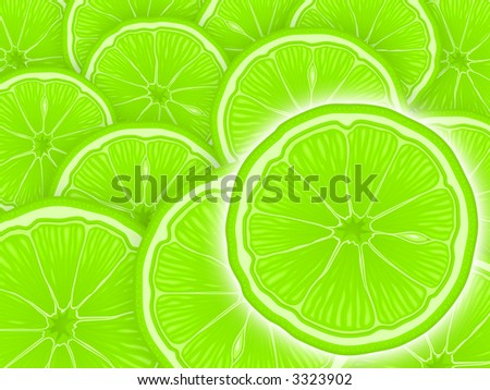 Juicy lemon cuts as a background - stock photo