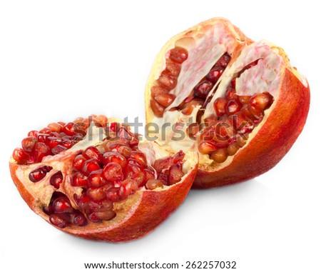 Juicy pomegranate. - stock photo