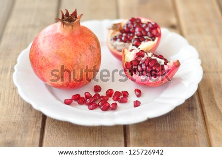 Juicy ripe pomegranate