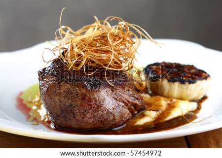 juicy steak - stock photo