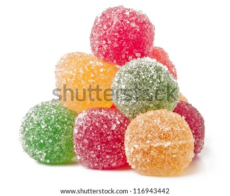 jujube colored balls on a white background - stock photo