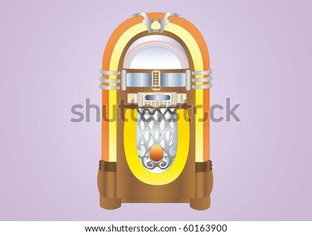 jukebox - stock photo