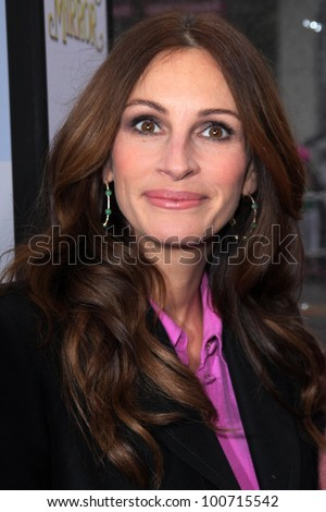 """Julia Roberts at the """"Mirror Mirror"""" Los Angeles Premiere, Chinese Theater, Hollywood, CA 03-17-12 - stock photo"""