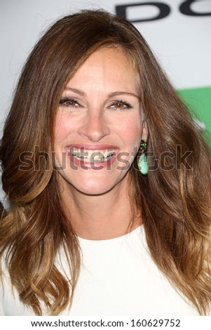 Julia Roberts at the 17th Annual Hollywood Film Awards Arrivals, Beverly Hilton Hotel, Beverly Hills, CA 10-21-13 - stock photo