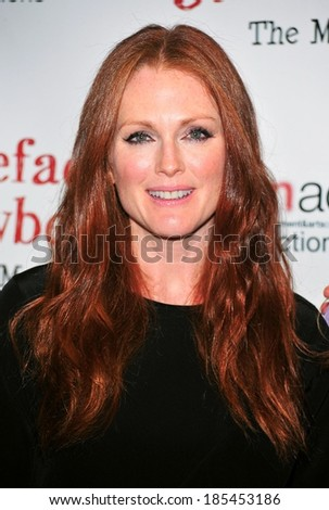 Julianne Moore at Freckleface Strawberry The Musical Opening Night on Broadway to Benefit Save The Children, The New World Stages, New York October 1, 2010