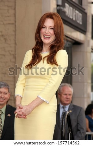 Julianne Moore at Julianne Moore's Star on the Hollywood Walk of Fame Ceremony, Hollywood Walk of Fame, Hollywood, CA 10-03-13 - stock photo