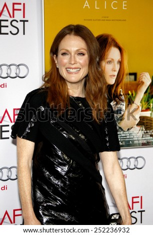 Julianne Moore at the AFI FEST 2014 Special Screening Of 'Still Alice' held at the Dolby Theatre in Los Angeles on November 12, 2014 in Los Angeles, California.  - stock photo