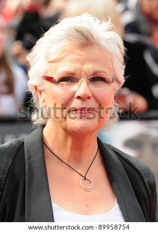 """Julie Walters arriving for premiere of the final Harry Potter film """"Harry Potter and the Deathly Hallows Part 2,  Trafalgar Square, in London. 07/07/2011 Picture by: Simon Burchell / Featureflash - stock photo"""