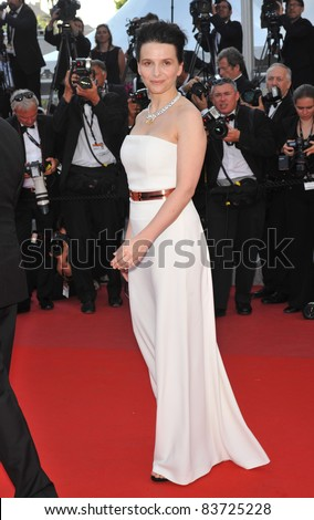 Juliette Binoche at the closing Awards Gala at the 63rd Festival de Cannes. May 23, 2010  Cannes, France Picture: Paul Smith / Featureflash