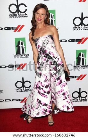 Juliette Lewis at the 17th Annual Hollywood Film Awards Arrivals, Beverly Hilton Hotel, Beverly Hills, CA 10-21-13 - stock photo