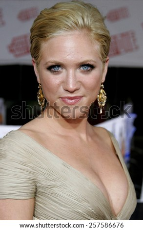 """July 25, 2006. Brittany Snow attends the Los Angeles Premiere of """"John Tucker Must Die"""" held at the Grauman's Chinese Theater in Hollywood, California United States.  - stock photo"""