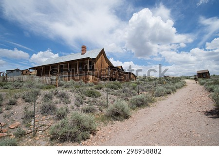 July 20, 2015: gold rush era of Ghost town Bodie, CA - stock photo