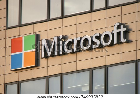 "JULY 2017 - REYKJAVIK: the logo of the brand ""Microsoft""."