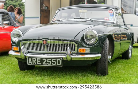 JULY 5: Vintage MG Northumberland classic vehicle show festival on July 5, 2015 in Corbridge Northumberland. This event is annual gathering of vintage cars and their owners and fans. - stock photo