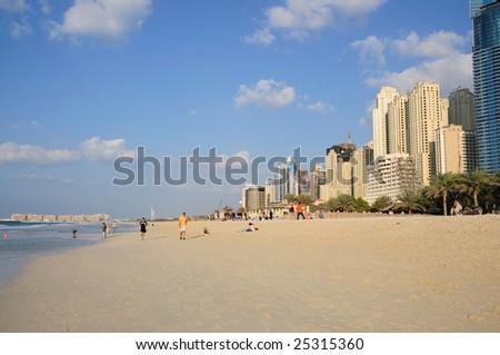 Jumeirah beach in Dubai, United Arab Emirates - stock photo