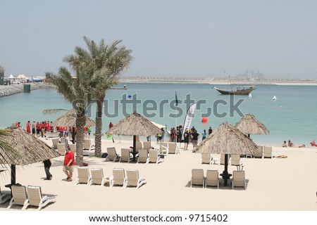 Jumeirah Residences Beach in Dubai - stock photo
