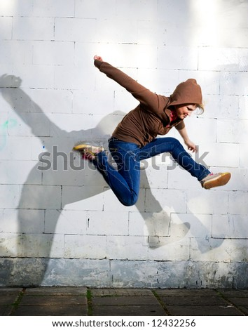 Jump. - stock photo