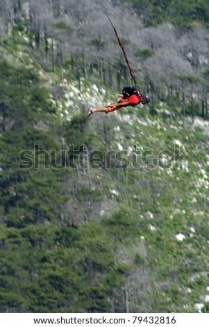 Jump to rope.Shaan Kaya Crimea. Motion Blur - stock photo