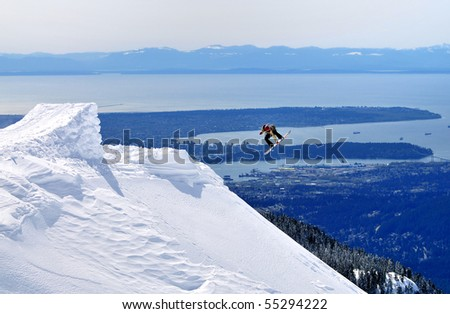 Jump to the Sky - stock photo