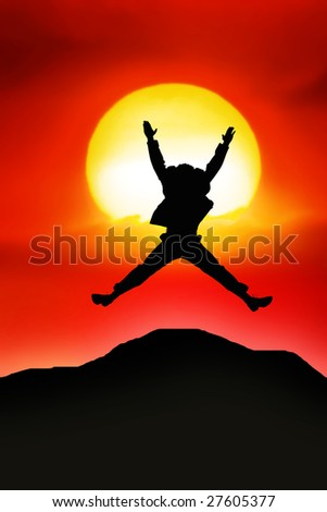 Jumping - stock photo