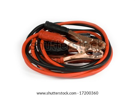 jumpstart cable - stock photo
