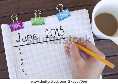 June 2015 - stock photo