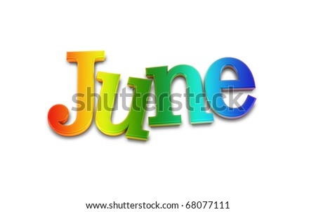 june - stock photo