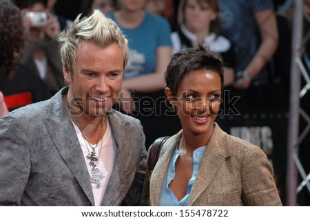 "JUNE 14, 2005 - BERLIN: Uwe Kroeger, Dennenesch Zoude at the German premiere of the movie ""War of the Worlds"", Potsdamer Platz, Berlin."