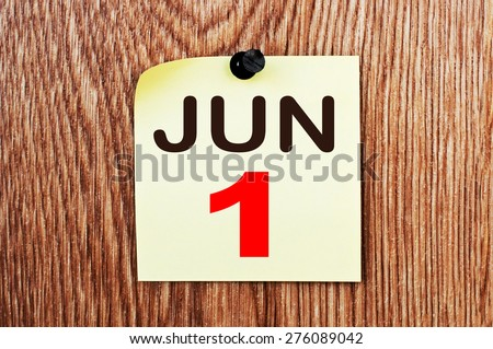 June 1 Calendar. Part of a set - stock photo